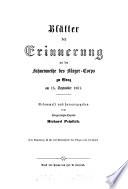 Blätter der Erinnerung an die Fahnenweihe des Bürger-Corps zu Graz am 15. Sept. 1861