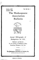 The Shakespeare Association Bulletin