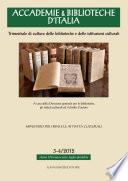Accademie   Biblioteche d Italia 3 4 2012
