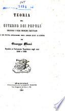 Teoria del governo dei popoli secondo i veri principi cristiani e sua pratica applicazione negli odierni Stati di Europa
