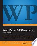 WordPress 3 7 Complete
