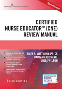 Certified Nurse Educator  Cne  Review Manual  Third Edition W App
