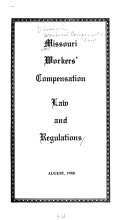 Missouri workers  compensation law and regulations