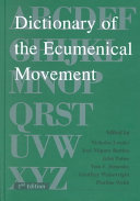 Dictionary of the Ecumenical Movement Book PDF