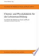 Chemie  und Physikdidaktik f  r die Lehramtsausbildung