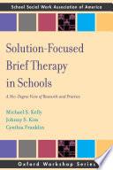 Solution Focused Brief Therapy in Schools Book PDF