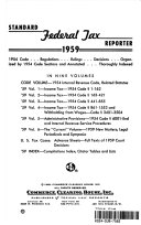 STANDARD FEDERAL TAX REPOETER 1959