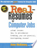 Real resumes for Computer Jobs