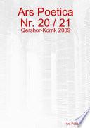 Ars Poetica Nr  20   21  Qershor   Korrik 2009