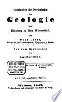 Geschichte der Fortschritte der Geologie und Einleitung in diese Wissenschaft