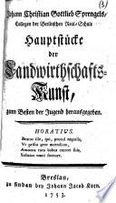 Hauptstücke der Landwirtschafts-Kunst, zum Besten der Jugend herausgegeben