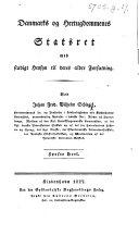 Book Danmarks og Hertugdommenes Statsret med stadigt Hensyn til deres ældre Forfatning