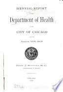 Annual Report of the Department of Health of the City of Chicago for the Year