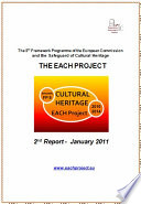 THE EACH PROJECT - Cultural Heritage - Second Report January 2011