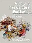 Managing construction purchasing