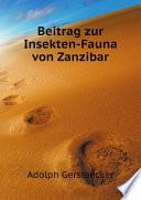 Beitrag zur Insekten-Fauna von Zanzibar