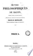 Oeuvres philosophiques de Bacon, 1