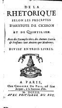 Rhétorique (livre I)