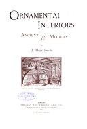 Book Ornamental Interiors Ancient & Modern