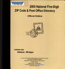 2005 National Five Digit ZIP Code and Post Office Directory