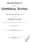 Bradstreet s Book of Commercial Ratings of Bankers  Merchants  Manufacturers  Etc