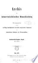 Archiv für Kunde österreichischer Geschichts-Quellen