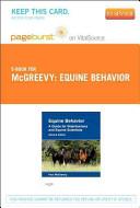 Equine Behavior Pageburst on VitalSource Access Code