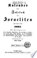 Kalender und Jahrbuch für Israeliten auf das Jahr ...