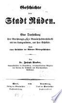 Geschichte der Stadt Rüden