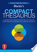 Blackie S Compact Thesaurus book