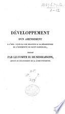 D Veloppement D Un Amendement L Art 10 De La Loi Relative La R Parition De L Indemnit De Saint Domingue Propos Par Le Comte H De Sesmaisons