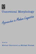 Theoretical Morphology book
