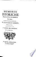 Memorie istoriche ed ecclesiastiche della città di Caserta