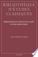 Déshonneur Et Honte en Latin