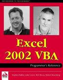 Excel 2002 VBA Programmer's Reference