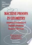 Machine Proofs In Geometry