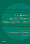Wiley Encyclopedia of Operations Research and Management Science  8 Volume Set