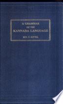 A Grammar of the Kannada Language