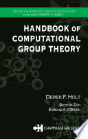 Handbook of Computational Group Theory