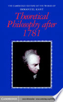 Theoretical Philosophy after 1781