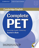 Complete Pet For Spanish Speakers Teacher S Book