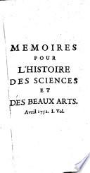 M  moires pour l histoire des sciences et des beaux arts