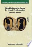 Eheschliessungen Im Europa Des 18. und 19. Jahrhunderts