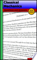 Classical Mechanics  Questions and Answers