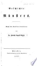 Geschichte Münsters, etc