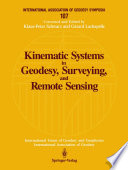 Kinematic Systems in Geodesy  Surveying  and Remote Sensing