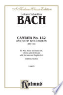 Cantata No. 142 -- Uns ist ein Kind geboren (For Us a Child Is Born)