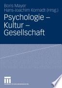 Psychologie   Kultur   Gesellschaft