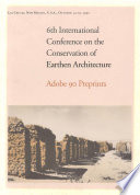 6th International Conference on the Conservation of Earthen Architecture