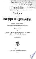 Materialien zum   bersetzen aus dem Deutschen ins Franz  sische